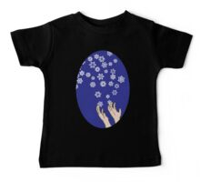 First Snow Night Snowflakes Baby Tee
