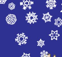 First Snow Night Snowflakes Sticker