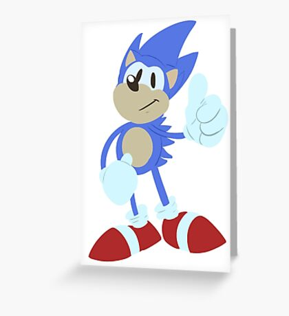 Sonic the hedgehog - Lineless Greeting Card