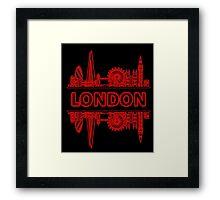 London City UK (Black Red) Framed Print