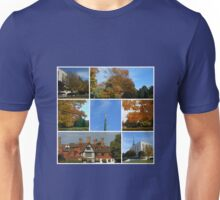 Autumn Scenes at The London Temple Collage Unisex T-Shirt