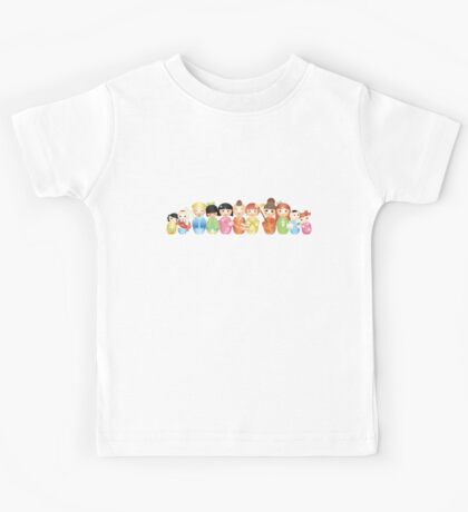 Kokeshi - Japanese Wooden Dolls Kids Tee