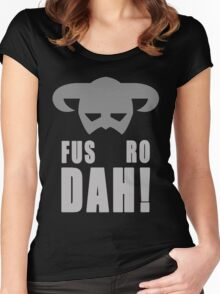 Skyrim- Fus-Ro-Dah!  Women's Fitted Scoop T-Shirt