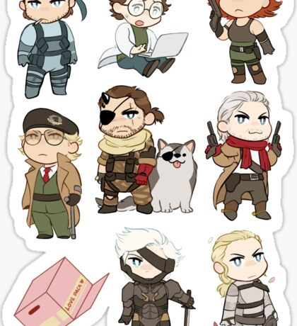 metal gear chibi sticker set Sticker