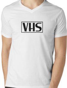 VHS Logo Black Mens V-Neck T-Shirt