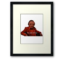 Fire Walk With Me Framed Print