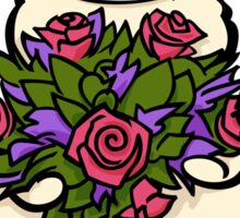 Alpaca with flowers Sticker