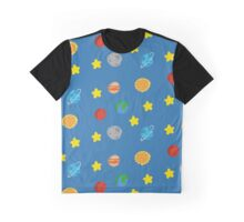 Cute Space Pattern Graphic T-Shirt