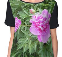 Peonies in a  garden Chiffon Top