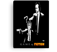 Game of fiction (with text) Canvas Print