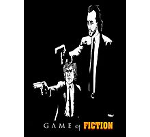 Game of fiction (with text) Photographic Print