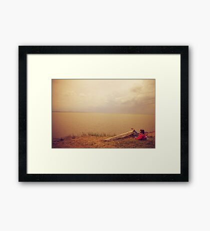 Waiting for the Ferry II Framed Print