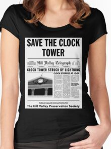 Save the clock tower fan art Women's Fitted Scoop T-Shirt