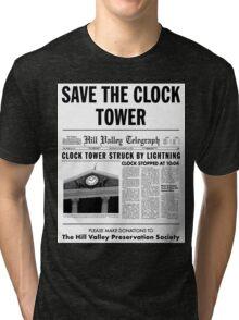 Save the clock tower fan art Tri-blend T-Shirt