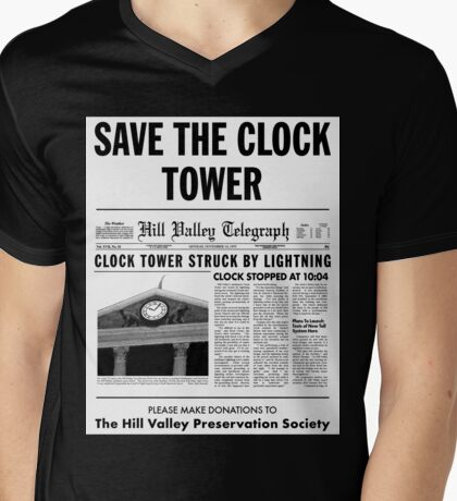 Save the clock tower fan art Mens V-Neck T-Shirt
