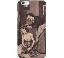 iPhone Case very old print ornament embellishment 1832 iPhone Case/Skin
