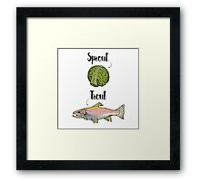 Sprout / Trout - Wordplay Illustration Framed Print