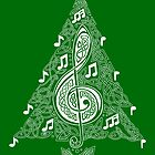 Green Musical Tree by arkadyrose