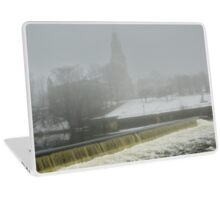 Slater Mill Dam in Winter Laptop Skin