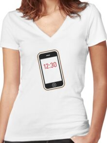 iPhone / Smartphone Women's Fitted V-Neck T-Shirt