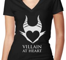 Villain At Heart Women's Fitted V-Neck T-Shirt
