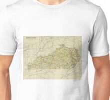 old map of Kentucky Unisex T-Shirt