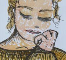 Girl in Sweater Sticker