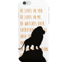 The Lion King - He Lives in You Lyrics iPhone Case/Skin