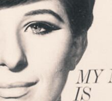My Name is Barbra Sticker