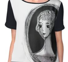 Portrait of an Imagined Lady Chiffon Top
