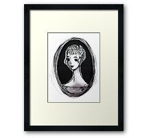 Portrait of an Imagined Lady Framed Print