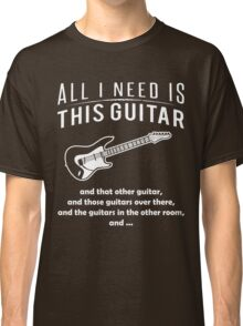 Love Guitar T-shirt Classic T-Shirt