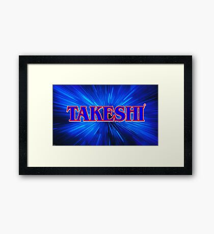 Takeshi Space Zoom logo Framed Print