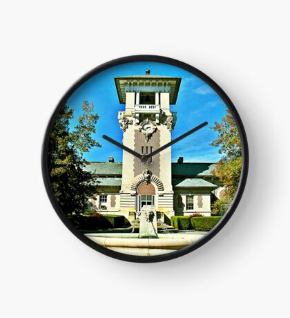 """""""The Clock Tower Building, Mountain Home, Tennessee""""... prints and products Clock"""