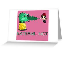 Extermi-not Powerpuff Eleventh Doctor Greeting Card