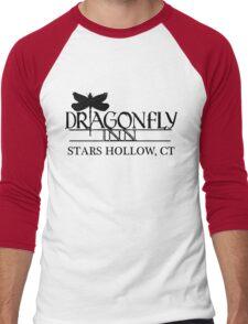 Dragonfly inn Black Men's Baseball ¾ T-Shirt