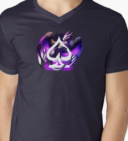 Asexual Pride Dragon Mens V-Neck T-Shirt