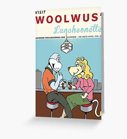 Woolwus' Luncheonette Greeting Card