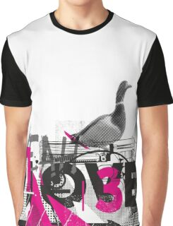Graffiti Composition Geometric Graphic T-Shirt