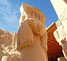 Ancient Egyptian Temple Pillar  by ZirconInk