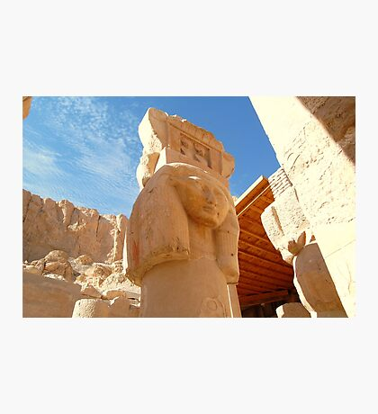 Ancient Egyptian Temple Pillar  Photographic Print
