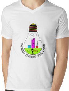 World Inside The Lamp Mens V-Neck T-Shirt