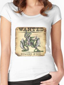 Alolan Kabutops - Most Wanted Poster Women's Fitted Scoop T-Shirt