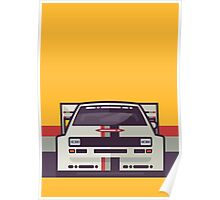 Audi Sport Quattro S1 - Audi Sport Livery (Stripe Yellow) Poster
