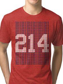 (say it fast) Zeke & Dak & (WHITE 214) Tri-blend T-Shirt