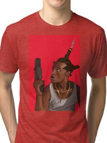 Don't Be a Menace to South Central While Drinking Your Juice in the Hood Tri-blend T-Shirt