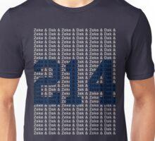 (say it fast) Zeke & Dak & (BLUE 214) Unisex T-Shirt