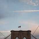 Brooklyn Bridge at sunset by Olivia Son