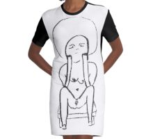 The Thinker Graphic T-Shirt Dress
