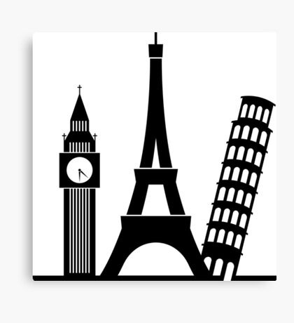 Europe / London / Paris / Pisa Canvas Print
